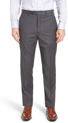 John W. Nordstrom R) Torino Traditional Fit Flat Front Check Trousers