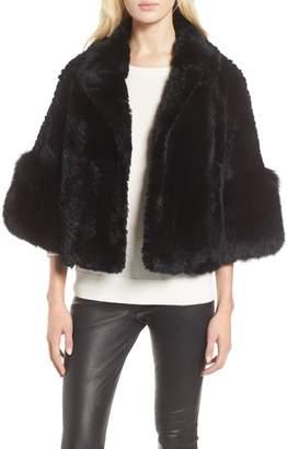 Linda Richards Genuine Rex Rabbit Fur Cropped Jacket