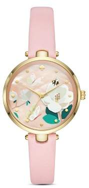 Kate Spade new york Holland Bee, Butterfly & Floral Detail Watch, 34mm
