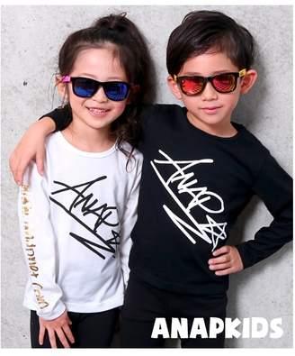 ANAP (アナップ) - ANAP KIDS 手書きロゴロンT ブラック