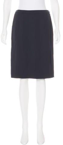 Armani Collezioni Wool Wrap Skirt