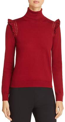 Kate Spade Ruffle-Trimmed Turtleneck Sweater
