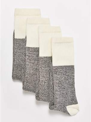 Topman Mens Stone Ecru Salt And Pepper Tube Socks 4 Pack