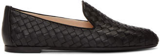 Bottega Veneta Black Intrecciato Loafers