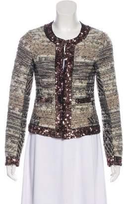 Gryphon Embellished Knit Jacket