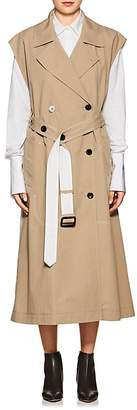 Derek Lam Women's Belted Cotton Sleeveless Double-Breasted Trench Coat