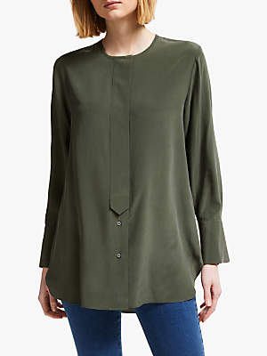John Lewis   Partners Silk Collarless Shirt 5becd0aae