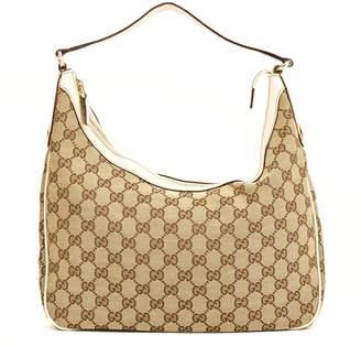 Gucci White GG Monogram Hobo (4031013)