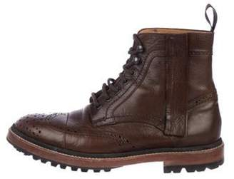 Lanvin Leather Ankle Boots brown Leather Ankle Boots
