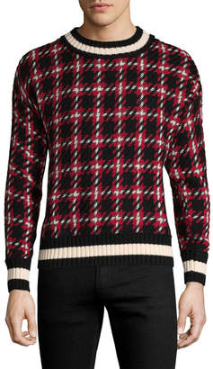 Moncler Plaid Crew Sweater