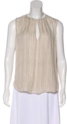 L'Agence Silk Sleeveless Blouse
