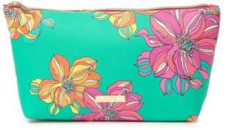 Trina Turk Large T Bottom Floral Makeup Bag