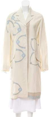 Prada Long Embroidered Coat