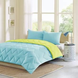 Home Essence Apartment Penny Reversible Luxurious Soft Brushed Down Alternative Comforter Mini Set
