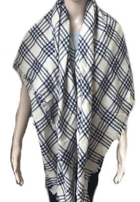 BEIGE Lifeshop Women's Winter Warm Knit Infinity Scarf and Cozy Stripe Plaid Wrap Shawl -Red