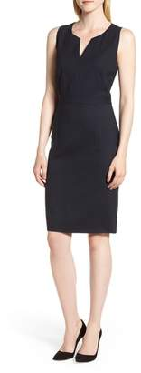 BOSS Dimahina Monostripe Stretch Wool Sheath Dress