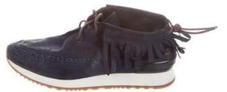 Tory Burch Metallic Fringe Sneakers