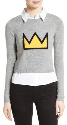 Women's Alice + Olivia Nikia Layered Look Crown Sweater $395 thestylecure.com