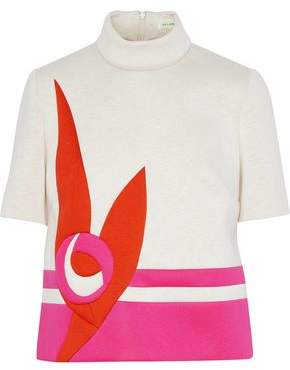 DELPOZO Color-Block Neoprene Top