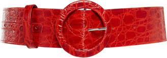 ATTICO Croc-Effect Leather Belt