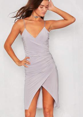 41366e1e17 Missy Empire Missyempire Mandie Grey Slinky Bodycon Dress
