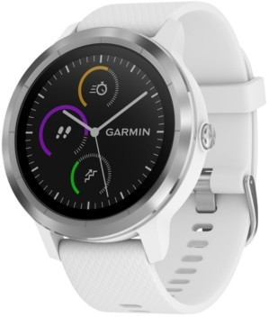 Garmin Unisex vivoactive 3 White Silicone Strap Smart Watch 43mm