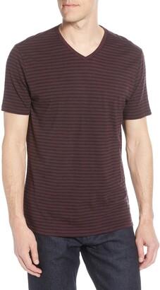 Robert Barakett Kenaston V-Neck Stripe T-Shirt