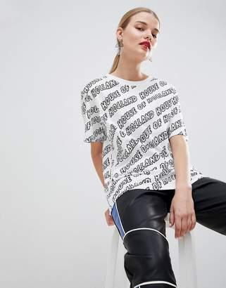 House of Holland Branded Oversized Boyfriend T-Shirt