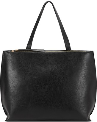 Sole Society Women's Wallis Tote Vegan Leather Black From