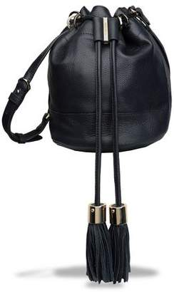 See by Chloe Vicki Tasseled Pebbled-Leather Bucket Bag
