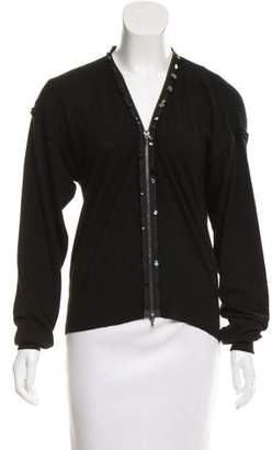 Lanvin Embellished Wool Cardigan