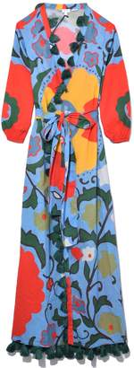 Rhode Resort Lena Wrap Dress in Blue Multiflower