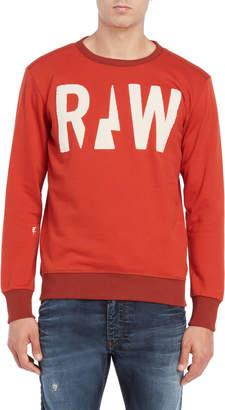 G Star Raw Flocked Logo Sweatshirt
