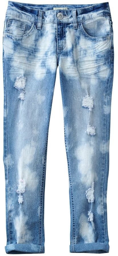 Mudd destructed skinny ankle jeans - girls 7-16