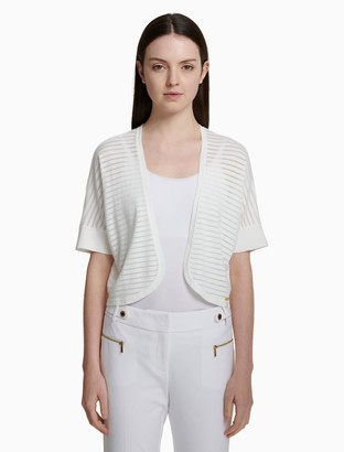 Calvin Klein sheer stripe round shrug