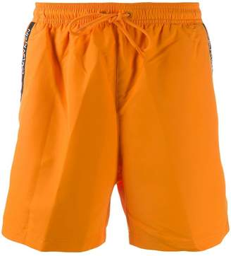 side logo stripe swim shorts