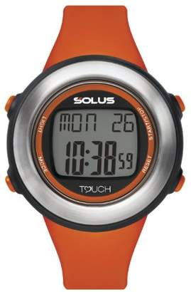 Solus Unisex Digital Watch with LCD Dial Digital Display and Orange PU Strap SL-850-002