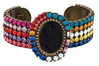 Dannijo Intaglio Multicolor Crystal Cuff
