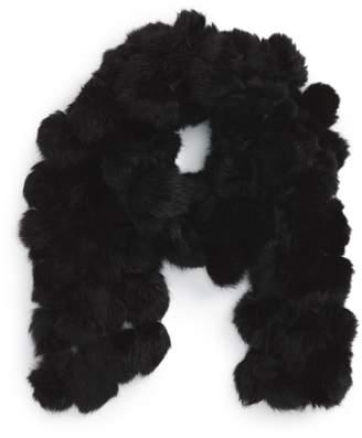 La Fiorentina Genuine Rabbit Fur Scarf