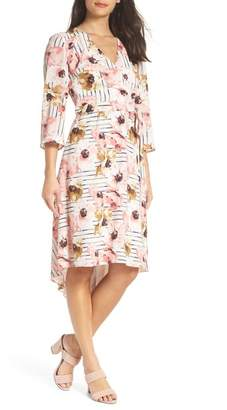 Charles Henry Floral High\u002FLow Dress