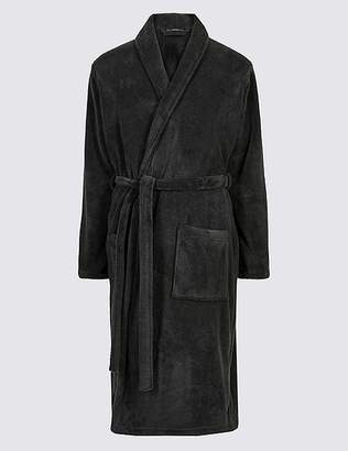 Marks and Spencer Supersoft Fleece Dressing Gown with Belt
