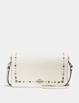 Coach Foldover Crossbody Clutch With Prairie Rivets