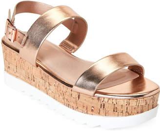Madden-Girl Rose Gold Sweett Platform Sandals