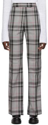3.1 Phillip Lim Multicolor Plaid Topstitch Trousers