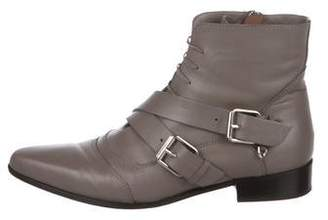 Tabitha Simmons Buckle Leather Boots