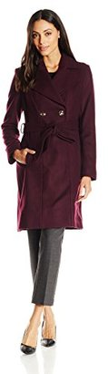 Via Spiga Women's Double-Breasted Wool Coat with Belt $285 thestylecure.com