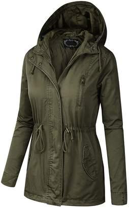 B.I.L.Y BILY Women Junior Fit Military Anorak Safari Hoodie Jacket