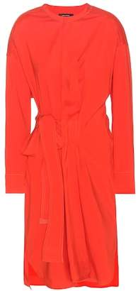 Isabel Marant Dias silk and wool-blend wrap-style dress