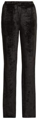 Sonia Rykiel Velvet Wide Leg Trousers - Womens - Black