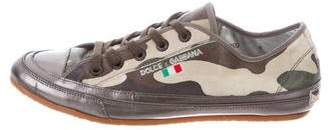Dolce & Gabbana Camouflage Low-Top Sneakers